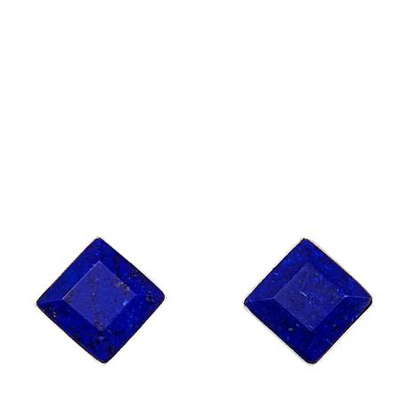 Jay King Lapis Square Sterling Silver Earrings