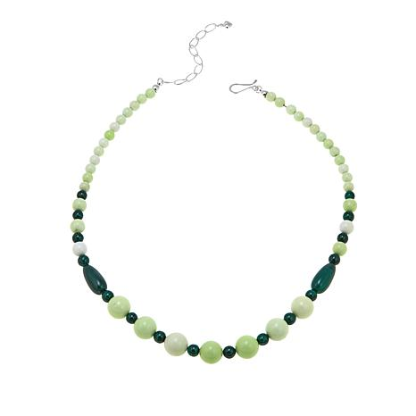 "Jay King Malachite and African Meadow Stone Beaded 18"" Necklace"