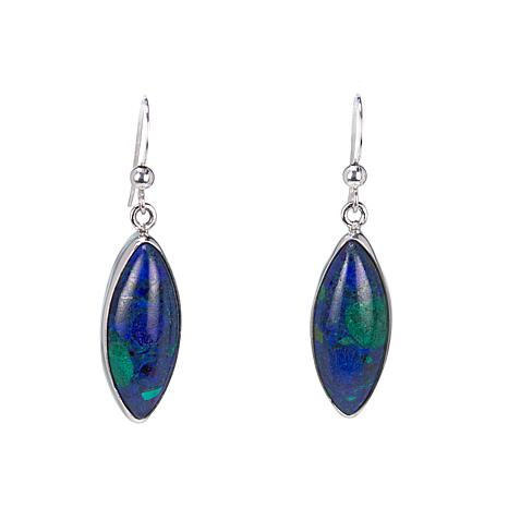 Jay King Marquise-Cut Azurite-Malachite Drop Sterling Silver Earrings
