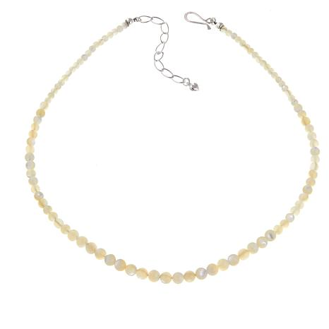 "Jay King Mother-of-Pearl Round Bead 18"" Necklace"