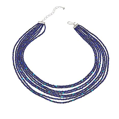 """Jay King Multi-Strand Turquoise and Lapis Bead 18"""" Necklace"""