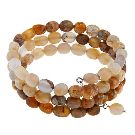 Jay King Multicolored Chalcedony Bead Coil Bracelet