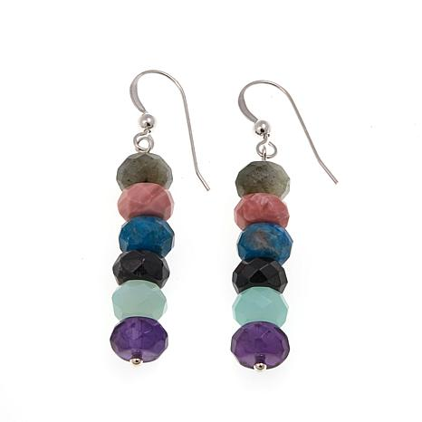 products sterling jewelry lisa cluster d multi klein earrings ruby silver and gemstone multigemstone