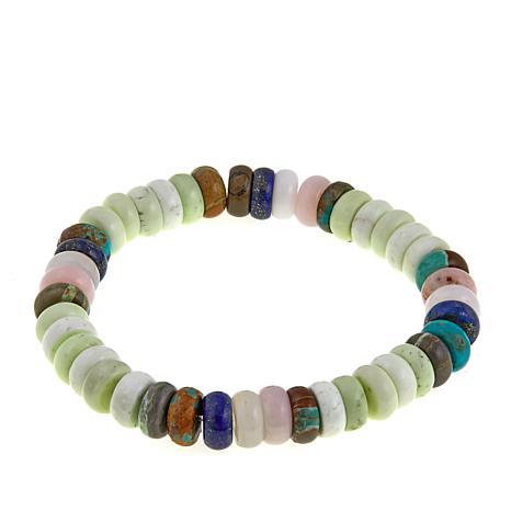Jay King Multigemstone Bead Stretch Bracelet