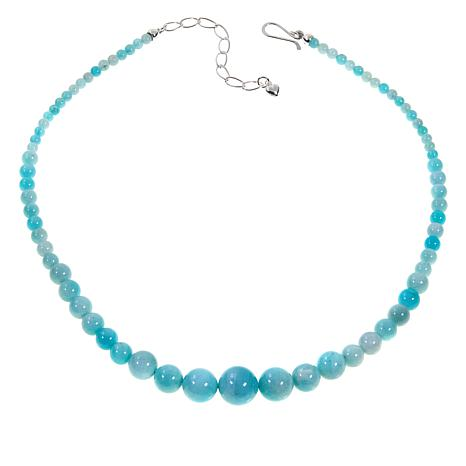 "Jay King Peruvian Amazonite Beaded 18"" Sterling Silver Necklace"