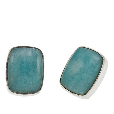 Jay King Peruvian Amazonite Sterling Silver Earrings