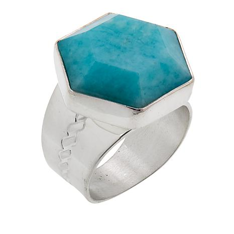 Jay King Peruvian Amazonite Sterling Silver Ring