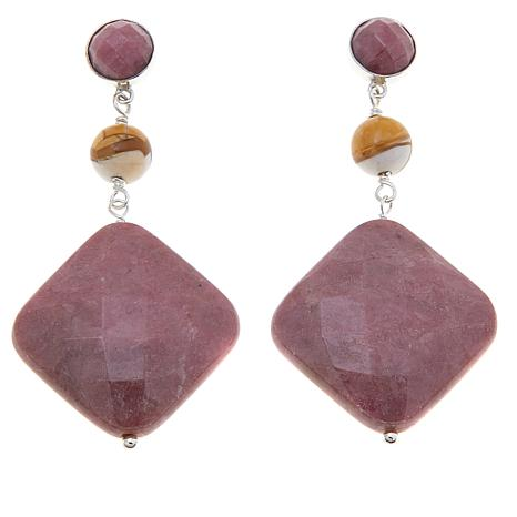 Jay King Rhodonite and Mookaite Earrings