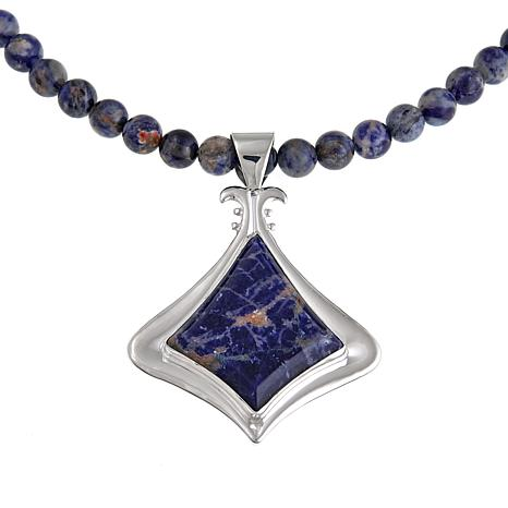 sodalite terri pendant jewelry necklace handcrafted s treasures gemstone x women semi under gallery store