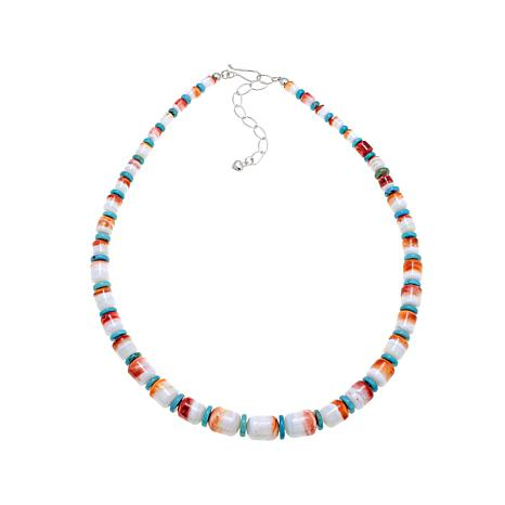 "Jay King Spiny Oyster Shell-Turquoise 18"" Necklace"
