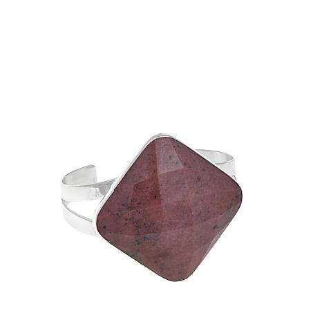Jay King Square Pink Rhodonite Cuff Bracelet