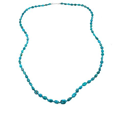 """Jay King Sterling Silver 36"""" Azure Peaks Turquoise Bead Necklace"""