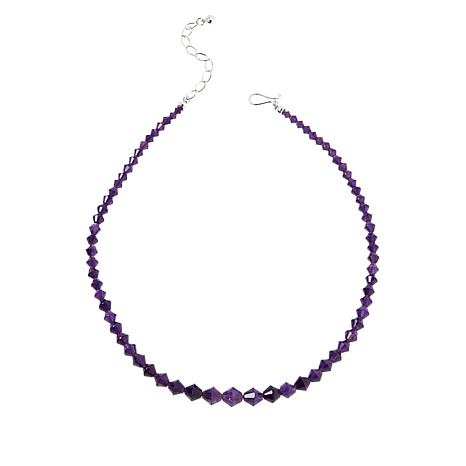 Jay King Sterling Silver Amethyst Faceted Bead Necklace