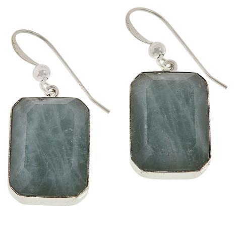 Jay King Sterling Silver Aquamarine Drop Earrings
