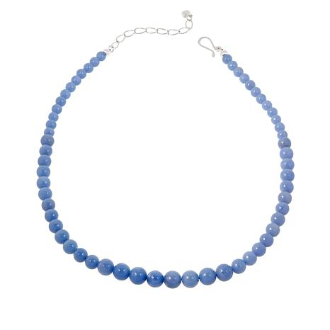 Jay King Sterling Silver Blue Anhydrite Bead Necklace