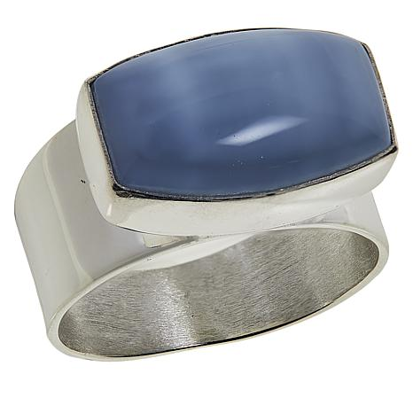 Jay King Sterling Silver Blue Opal Ring