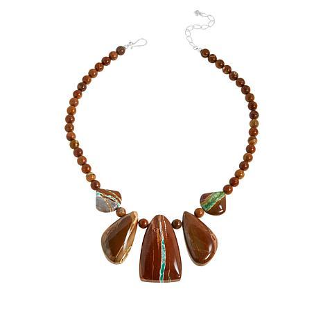 Jay King Sterling Silver Boulder Variscite Necklace