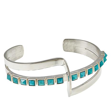 Jay King Sterling Silver Campitos Turquoise Cuff Bracelet