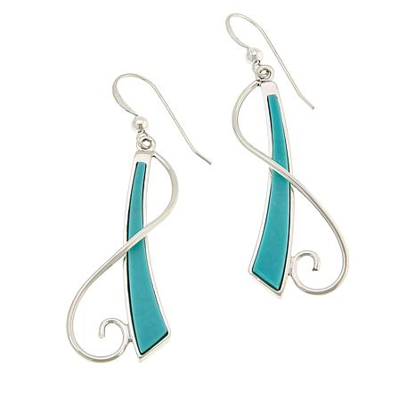 Jay King Sterling Silver Campitos Turquoise Drop Earrings