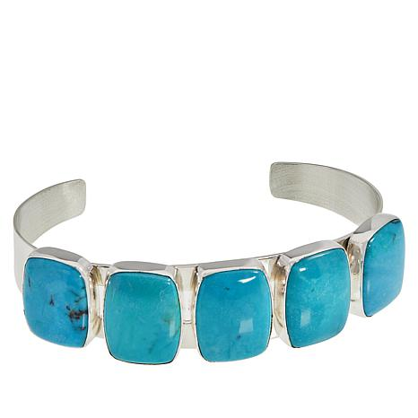 Jay King Sterling Silver Cloudy Mountain Turquoise Cuff Bracelet