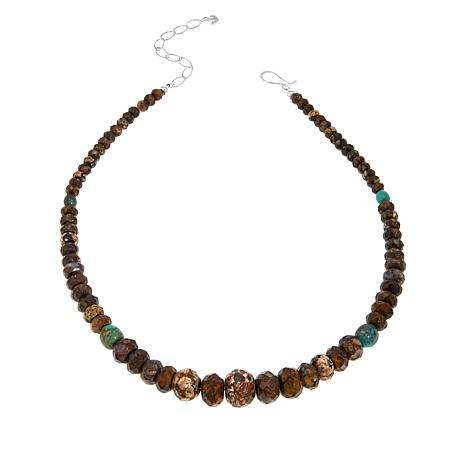 Jay King Sterling Silver Confetti Opal and Turquoise Bead Necklace