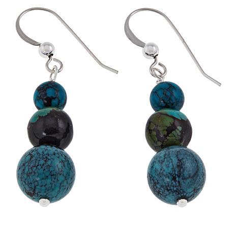 Jay King Sterling Silver Hubei Turquoise Drop Earrings