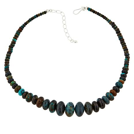 Jay King Sterling Silver Hubei Turquoise Graduated Beaded Necklace