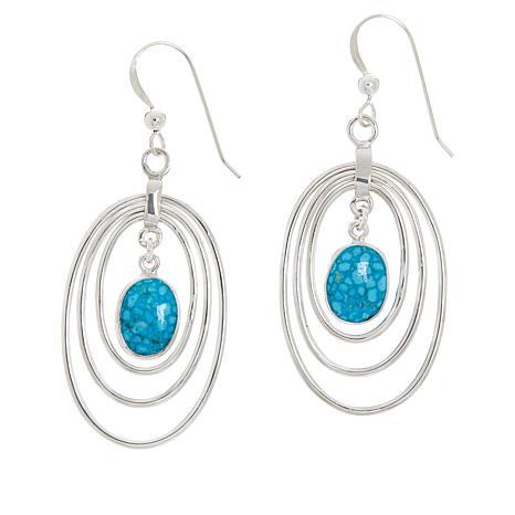 Jay King Sterling Silver Kingman Turquoise Drop Earrings