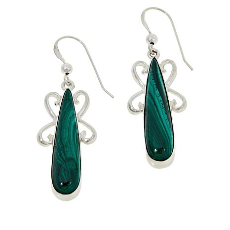Jay King Sterling Silver Malachite Drop Earrings