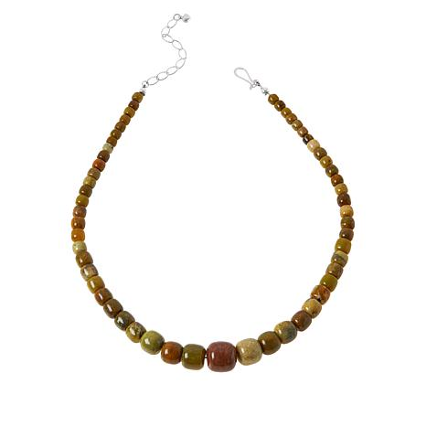 Jay King Sterling Silver Multi-Color Volcanic Opal Bead Necklace