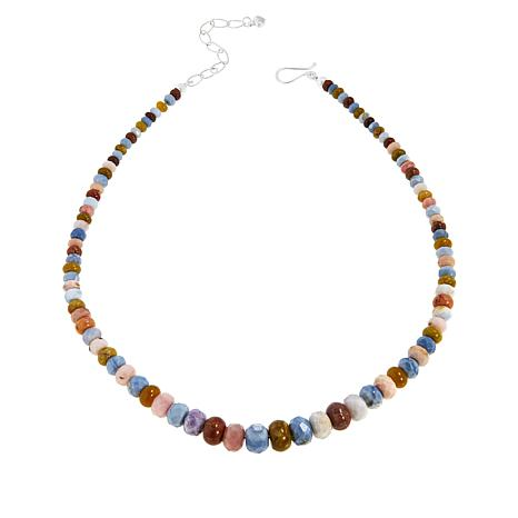 Jay King Sterling Silver Multi-Colored Opal Bead Necklace