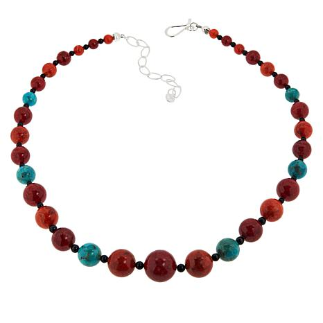Jay King Sterling Silver Multigemstone Beaded Necklace