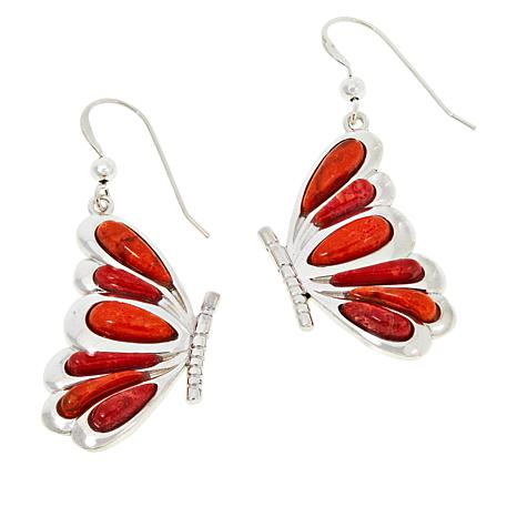 """1 9//16/"""" MABE PEARL RED CORAL TEARDROPS 925 STERLING SILVER pendant"""