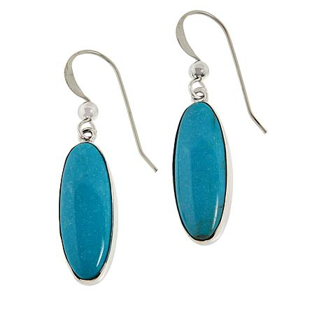 Jay King Sterling Silver Oval Gemstone Drop Earrings