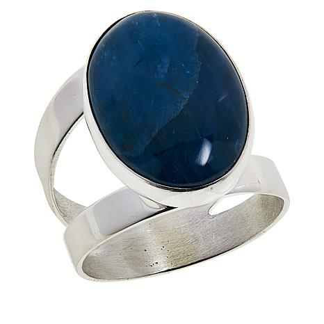 Jay King Sterling Silver Oval Indigo Blue Apatite Ring