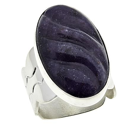 Jay King Sterling Silver Oval Purple Lepidolite Ring
