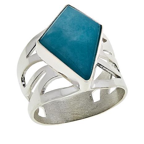 Jay King Sterling Silver Peruvian Amazonite Ring