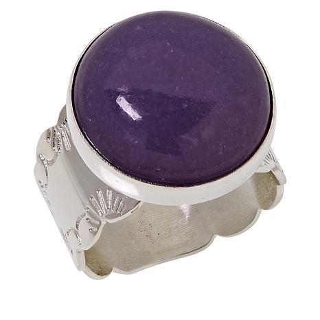 Jay King Sterling Silver Purple Lepidolite Ring