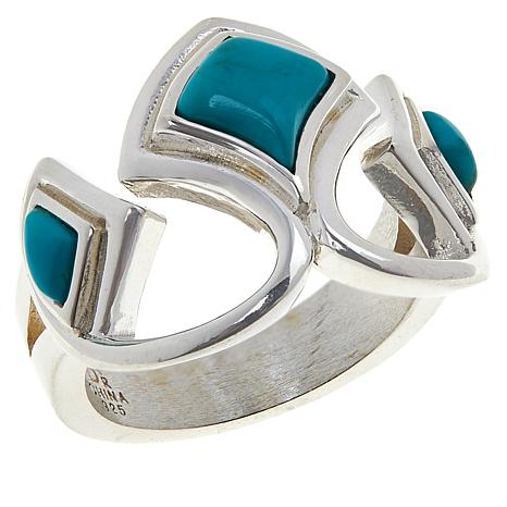 Jay King Sterling Silver Red Skin Turquoise Ring