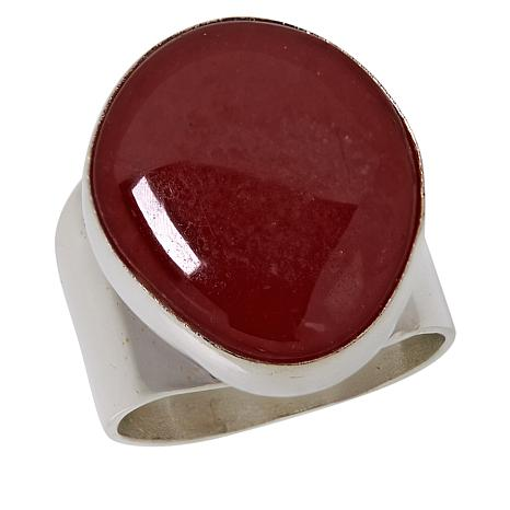 Jay King Sterling Silver Rhodochrosite Freeform Ring