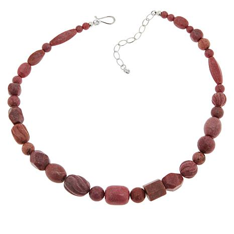 Jay King Sterling Silver Rhodonite Necklace