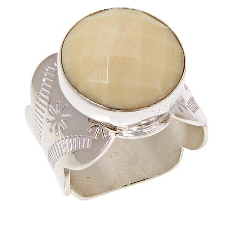 Jay King Sterling Silver Round Yellow Opal Ring