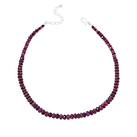 Jay King Sterling Silver Ruby Bead Necklace