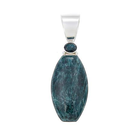 Jay King Teal Apatite Sterling Silver Pendant
