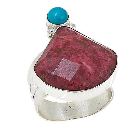 Jay King Thulite and Angel Peak Turquoise Sterling Silver Ring