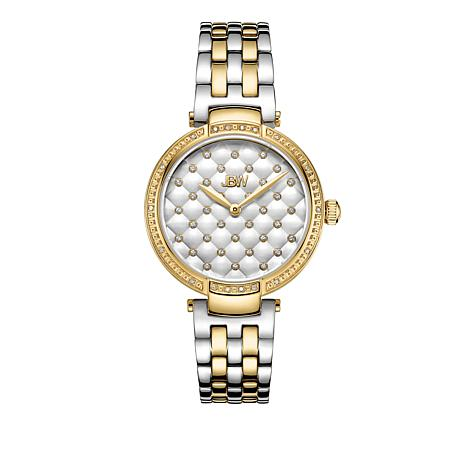"JBW ""Gala"" 18-Diamond 2-tone Stainless Steel Bracelet Watch"