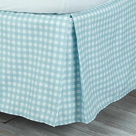 jeffrey banks gingham bedskirt - 8136736 | hsn