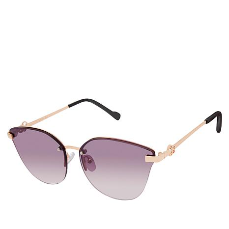 Jessica Simpson Metal Butterfly Sunglasses
