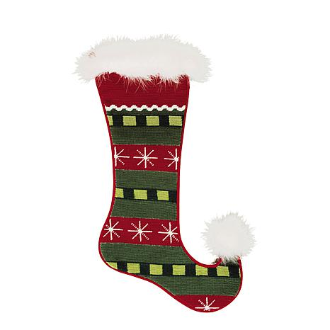 Jester Snowflakes Needlepoint Stocking