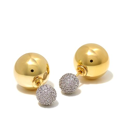 Jewels by Jen Pavé Bubble Double-Sided Earrings